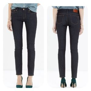 Madewell Alley Straight Leg Jeans Raw Wash 29 NEW